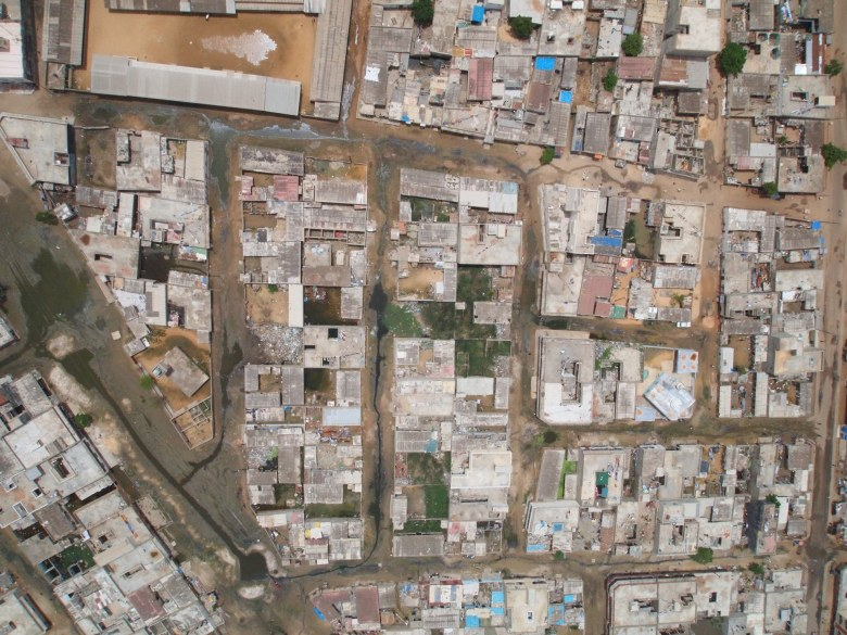 Here is an illustration of what a single KAP image can tell you about how the residents of this neighborhood have created their own drainage system.